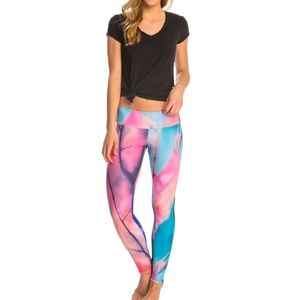 ONZIE Tuxedo Yoga Tie Dye Leggings In Chemistry SM